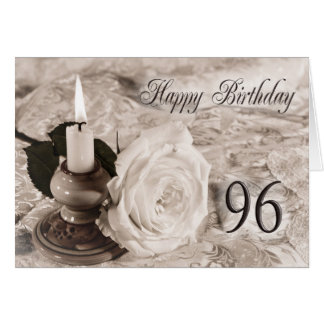 quatre-vingt-seizième La carte d'anniversaire avec