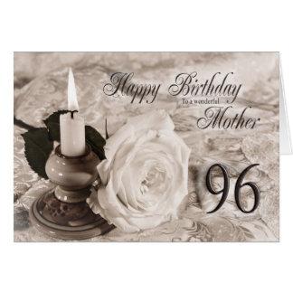 quatre-vingt-seizième La carte d'anniversaire pour