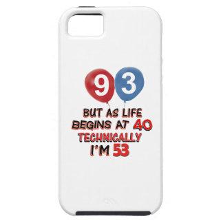 quatre-vingt-treizième conceptions d anniversaire étuis iPhone 5