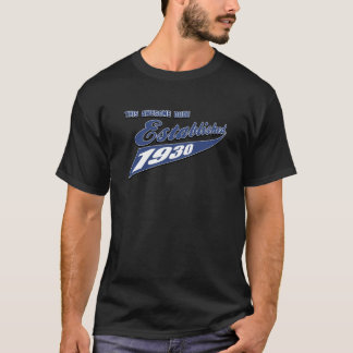 quatre-vingt-troisième conceptions d'anniversaire t-shirt