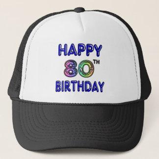 Quatre-vingtième cadeaux d'anniversaire et casquette de camionneur