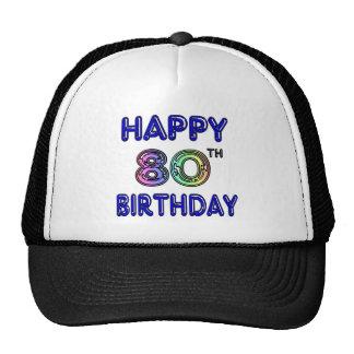Quatre-vingtième cadeaux d'anniversaire et habille casquette de camionneur