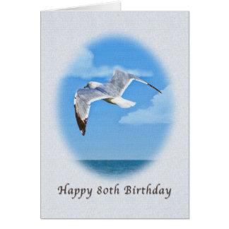 quatre-vingtième Carte d'anniversaire avec