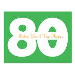 Quatre-vingtième cartes postales heureuses d'étape