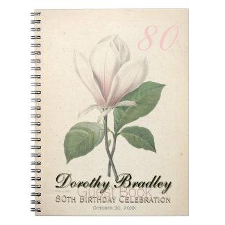 quatre-vingtième Fête d'anniversaire - livre Carnet