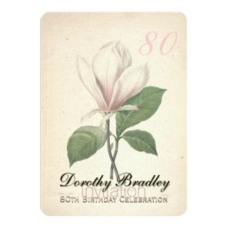 quatre-vingtième Invitation de coutume de magnolia