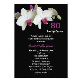 quatre-vingtième Invitation de fête d anniversaire