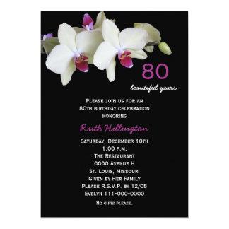 quatre-vingtième Invitation de fête d'anniversaire