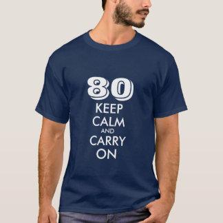 quatre-vingtième Le T-shirt d'anniversaire pour