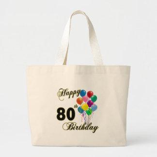 Quatre-vingtième sac fourre-tout heureux à anniver