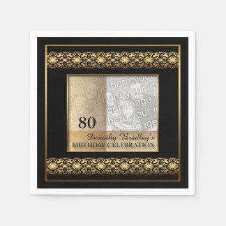 quatre-vingtième Serviettes de papier de photo de