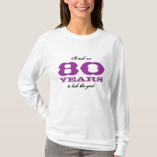 quatre-vingtième T-shirt de célébration