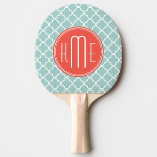 Quatrefoil en bon état et de corail avec le raquette tennis de table