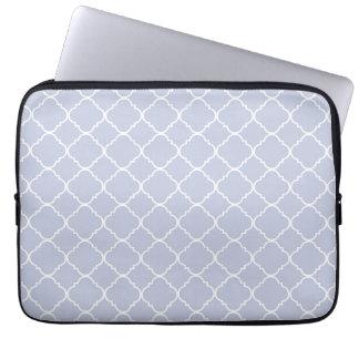 Quatrefoil lilas et blanc housse pour ordinateur portable