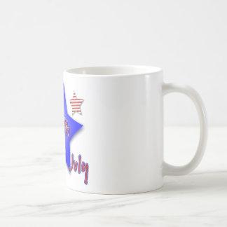 Quatrième de célébration de juillet mug