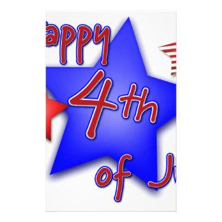 Quatrième de célébration de juillet papeterie
