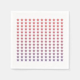 Quatrième d'étoiles de gradient des serviettes de serviette jetable