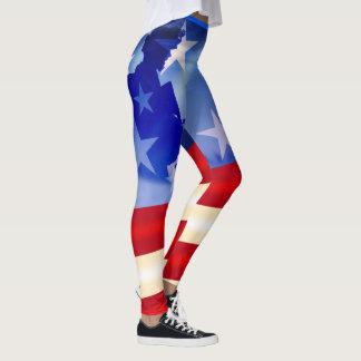 Quatrième patriotique de jour de vétérans de leggings