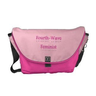 Quatrième sac messenger à féministe de vague sacoches