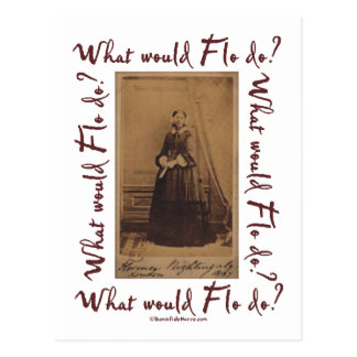 Que Flo ferait-il ? Florence Nightingale Cartes Postales