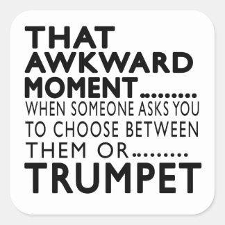 Que la trompette maladroite de moment conçoit sticker carré
