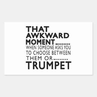 Que la trompette maladroite de moment conçoit sticker rectangulaire