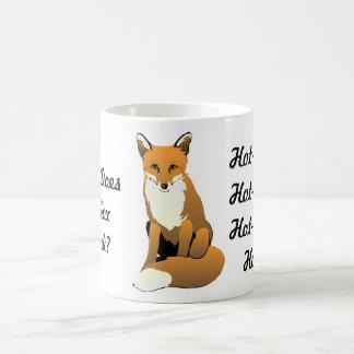 Que le Fox boit-il ? Thé chaud ! Tasse