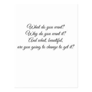 Que voulez-vous ? carte postale