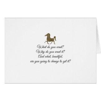 Que voulez-vous la licorne ? carte de vœux