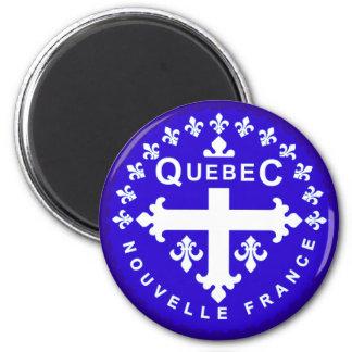 Québec Magnet Rond 8 Cm