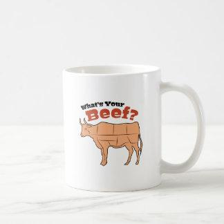 Quel est votre boeuf ? mug blanc