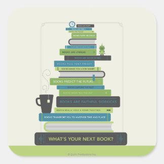 Quel est votre prochain livre ? sticker carré