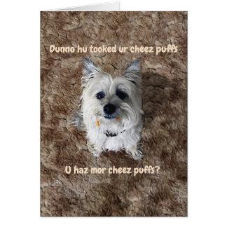 Quel fromage souffle ? Carte de voeux vierge