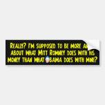 Quel Obama fait avec du mon argent Autocollants Pour Voiture