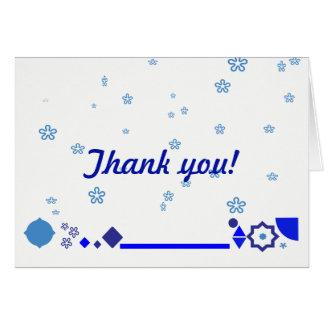 Quelque chose carte de remerciements bleu