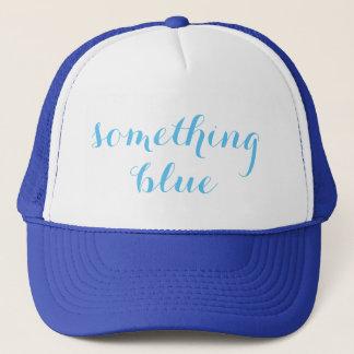 Quelque chose casquette bleu de camionneur de