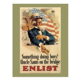 Quelque chose faisant la guerre mondiale de carte postale