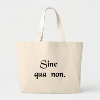 Quelque chose (ou quelqu'un) nécessaire grand sac