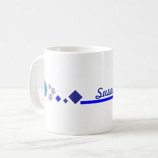 Quelque chose tasse bleue