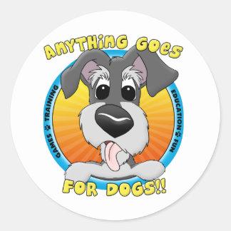 Quelque chose va pour des autocollants de chiens