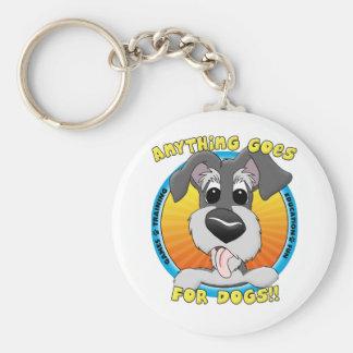 Quelque chose va pour des chiens Keychain Porte-clé