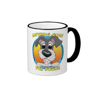 Quelque chose va pour la tasse de chiens