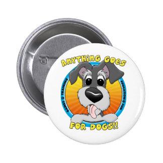 Quelque chose va pour le bouton de chiens badges avec agrafe