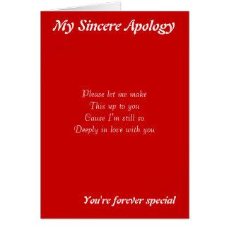 Quelqu'un cartes de voeux spéciales d'excuses