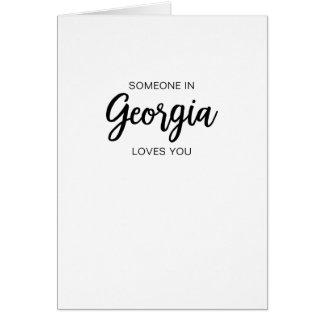 Quelqu'un en Géorgie vous aime - carte de voeux