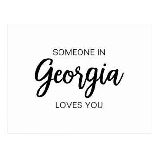 Quelqu'un en Géorgie vous aime - carte postale