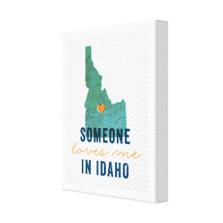 Quelqu'un m'aime dans la toile de l'Idaho Toiles
