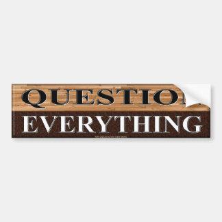 QUESTION TOUT AUTOCOLLANT DE VOITURE