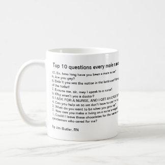 Questions du principal 10 que chaque infirmière mug
