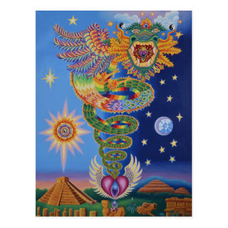 Quetzalcoatl renvoie la carte postale